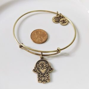 Alex and Ani Gold Hand of Fatima Charm Bracelet